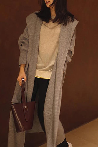 Casual Loose large   size long sleeved knitted cardigan jacket coat