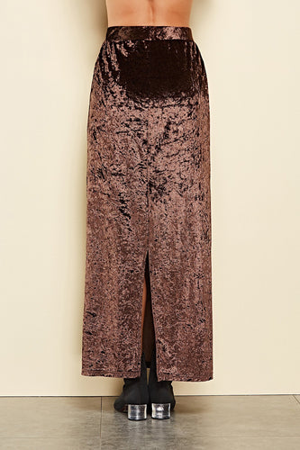 Autumn And Winter Velvet Long Skirt