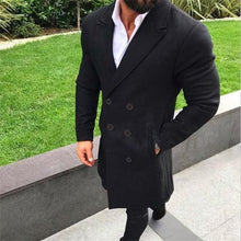 Load image into Gallery viewer, Formal Gentle Fashion Solid Color Button Lapel Long Sleeve Outerwear Coat