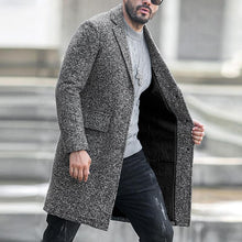 Load image into Gallery viewer, Single-Breasted Lapel Woolen Coat