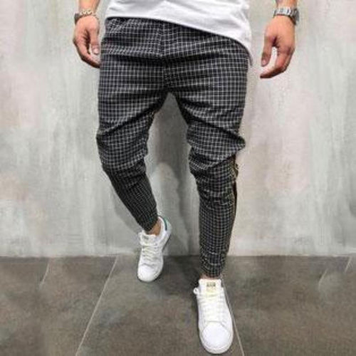 Fashion Check Printed Slim Pencil Pants