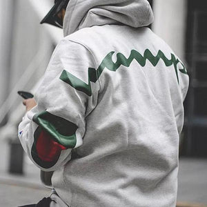 Fashion Street Solid Color Loose Hoodie