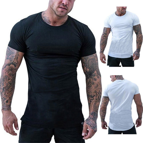 Summer Casual Men's Sports Round Neck Short-Sleeved Solid Color T-Shirts