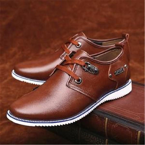 Men's daily casual leather shoes