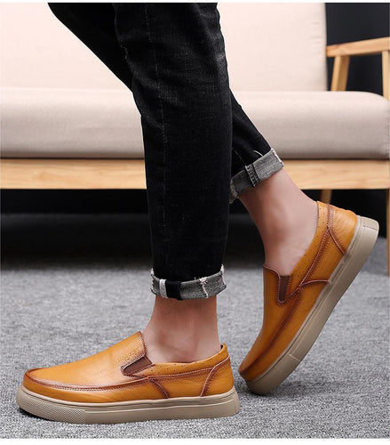 Casual And Comfortable Lightweight Leather Shoes