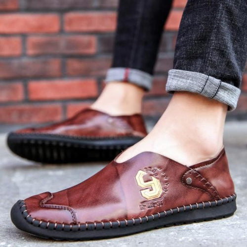 British style leather casual shoes