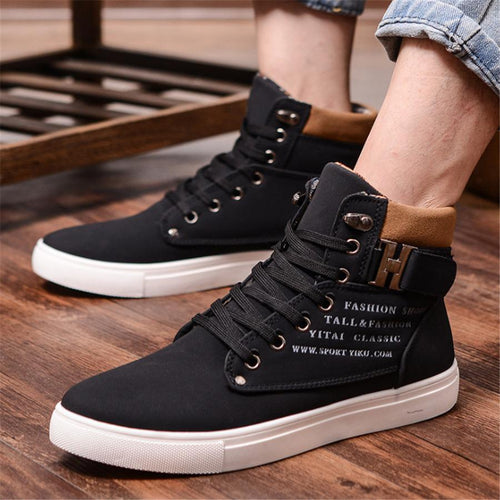 Men's High-Top Shoes Retro Casual Shoes