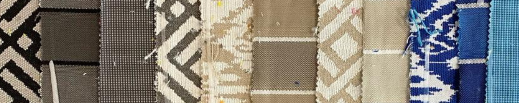 Weatherproof fabric samples for made-to-measure outdoor cushions