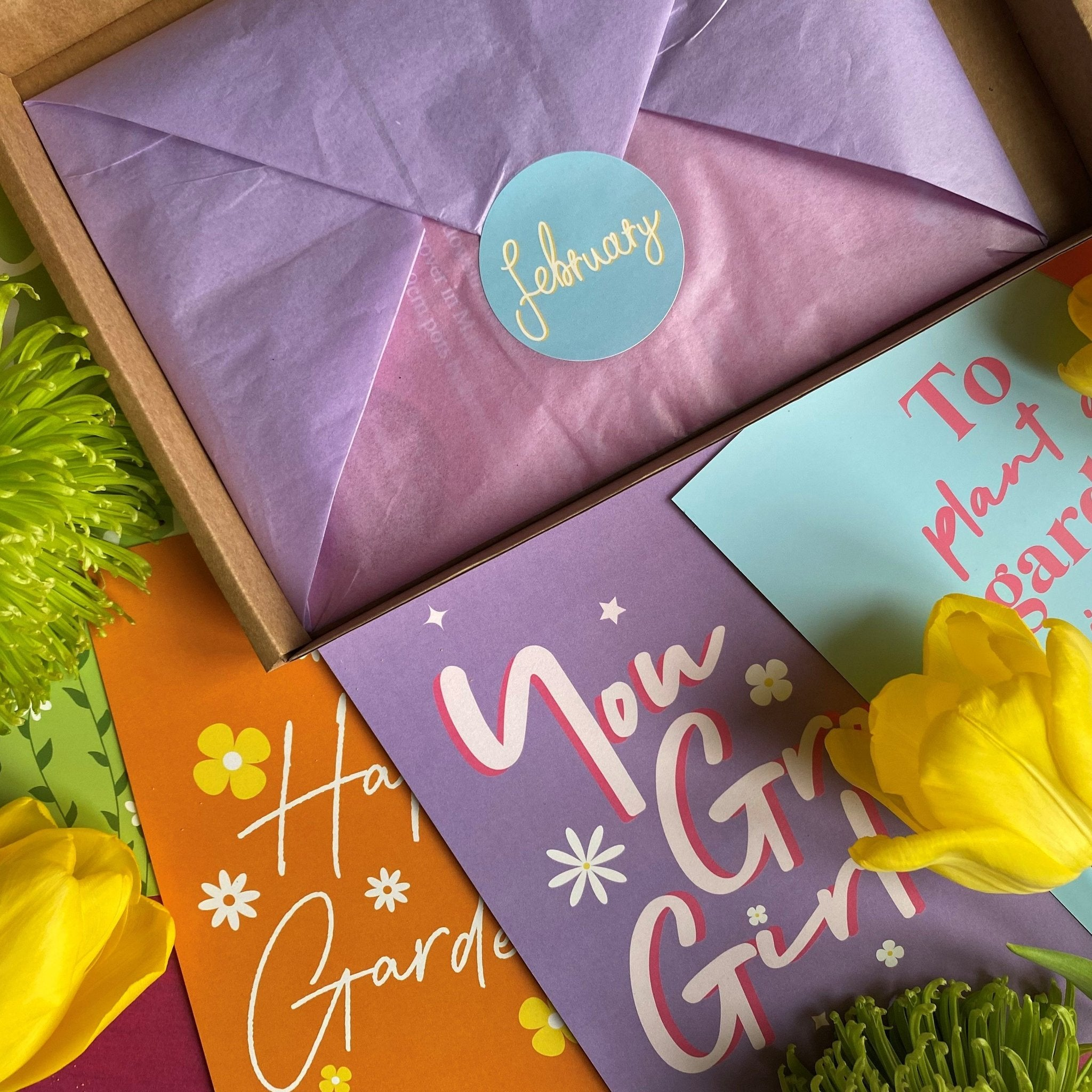Monthly seed and bulb subscription box by The Rose Press Garden