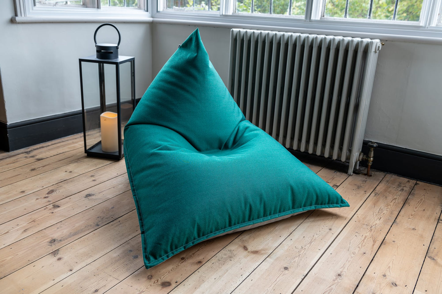 Adult Bean Bag Chair in Forest Green and Grey
