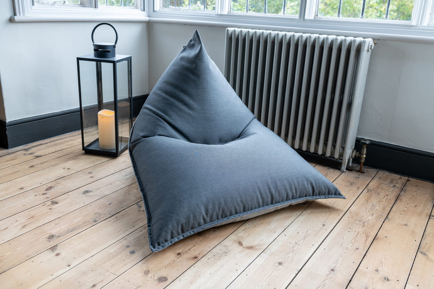 Adult Bean Bag Chair in Indigo and Ice Blue