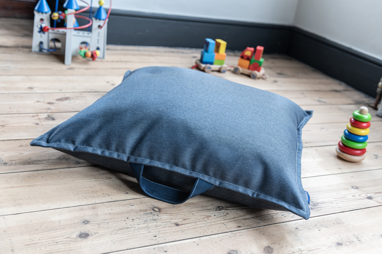 Children's Floor cushion in Indigo Blue