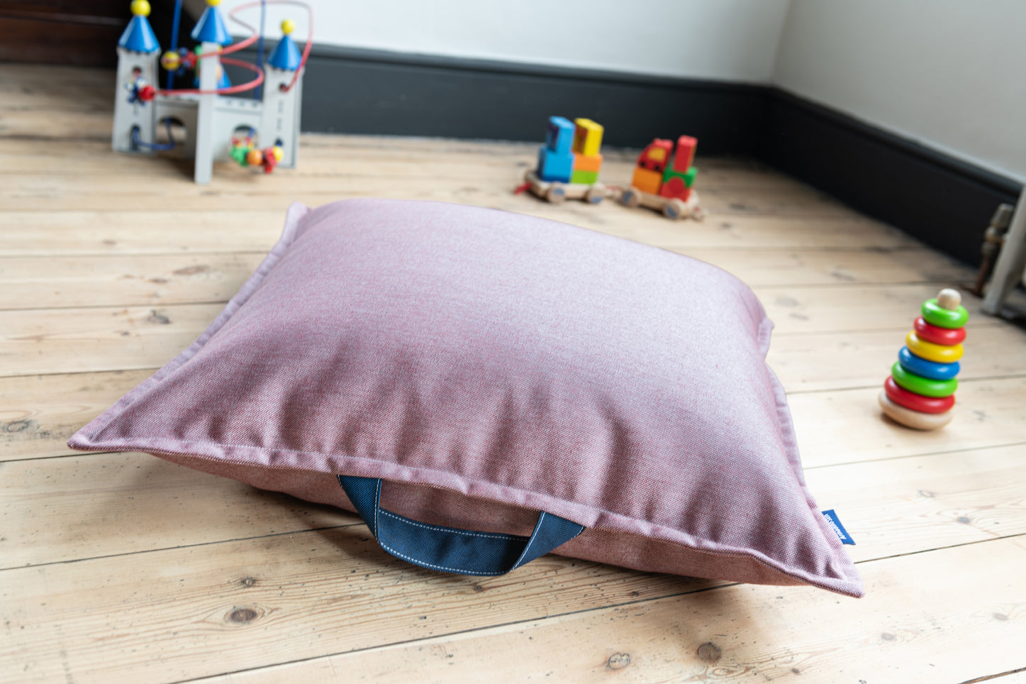 Children's Floor cushion in Ruby