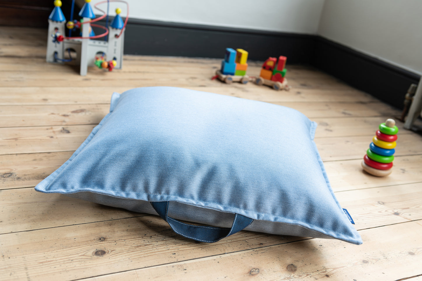 Children's Floor cushion in Ice Blue