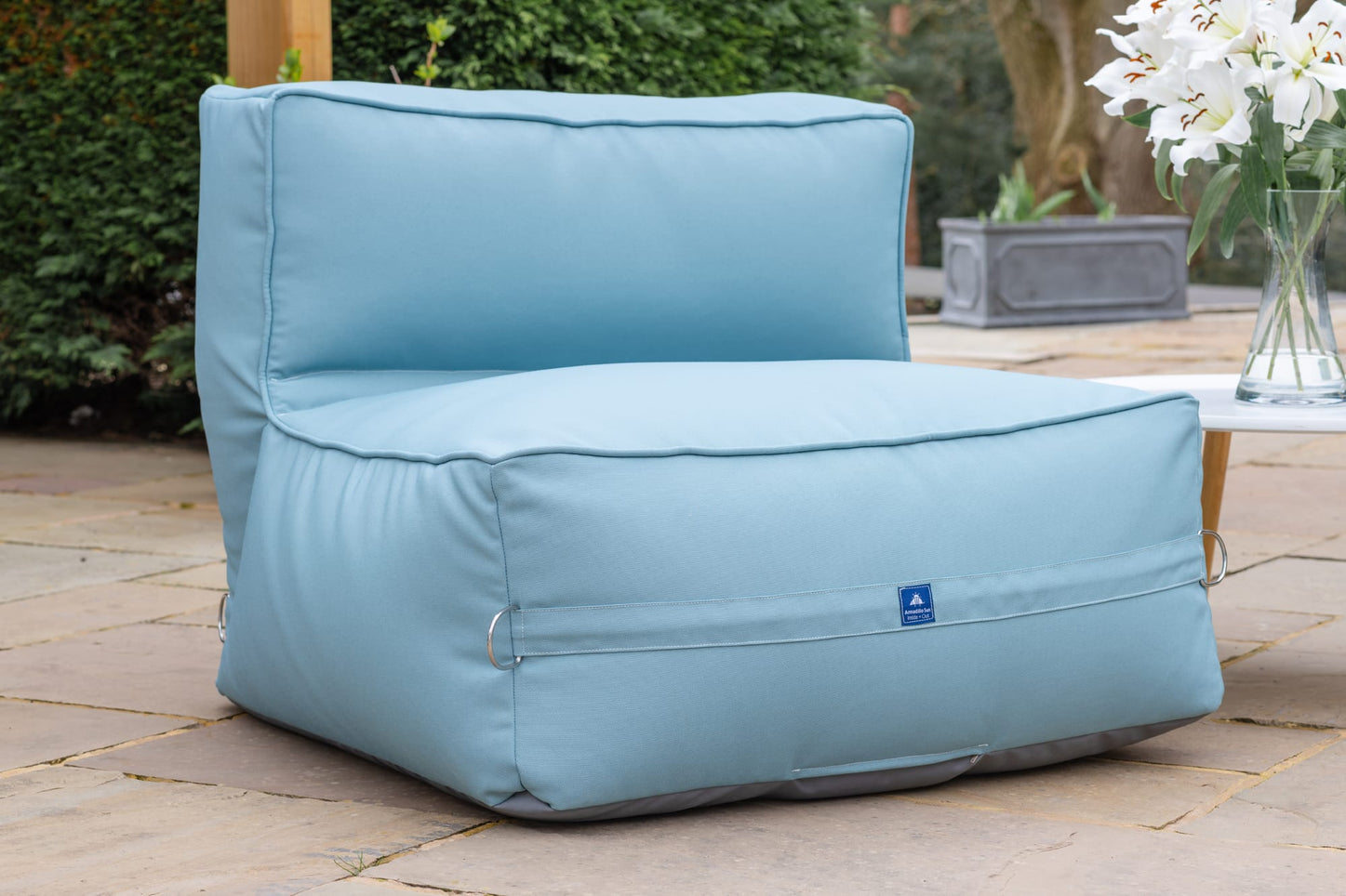 Monaco Modular Bean Bag Chair in Ocean Blue Monaco armadillosun