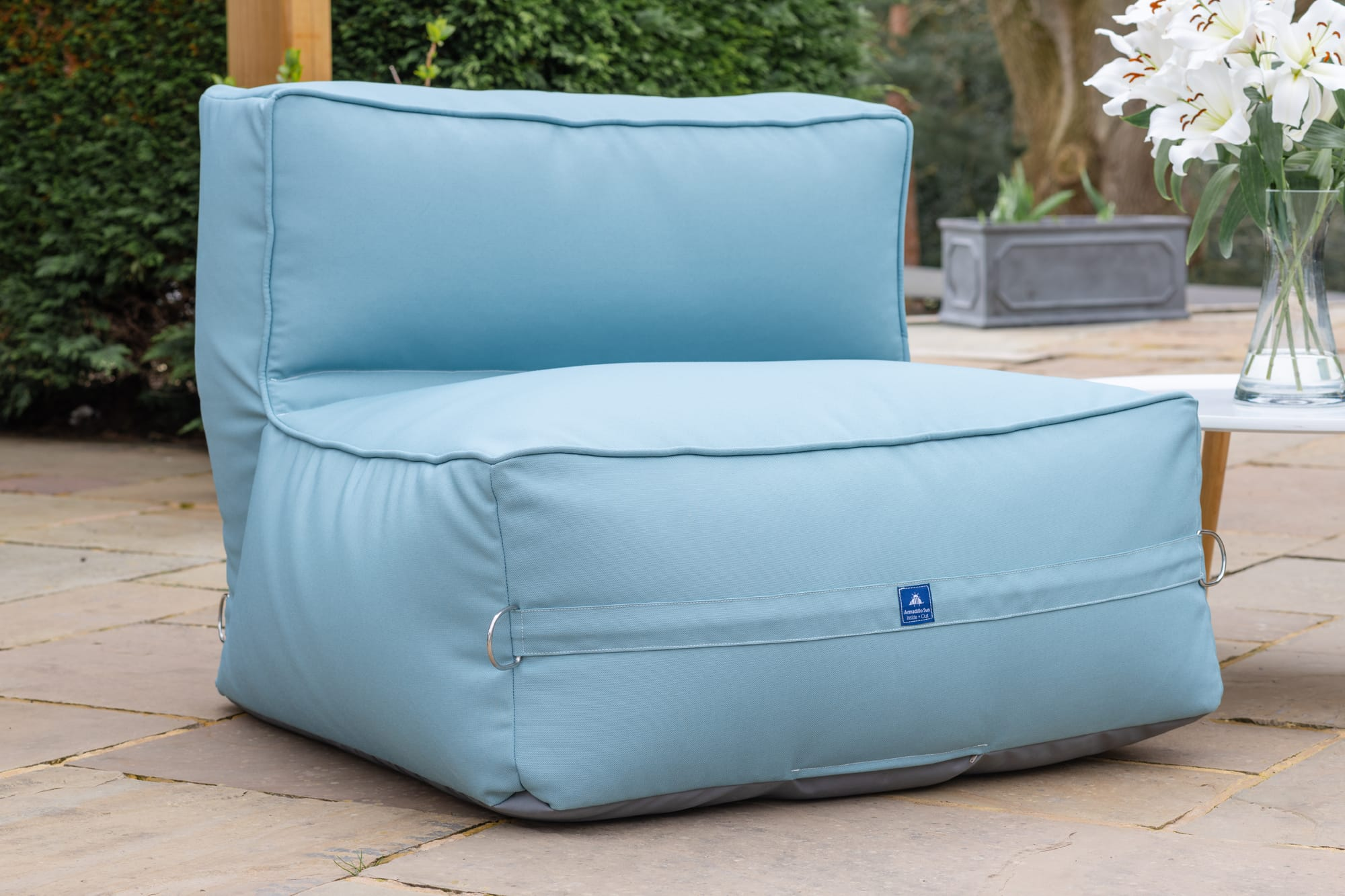 Adult Monaco Modular Bean Bag Chair in Ocean Blue