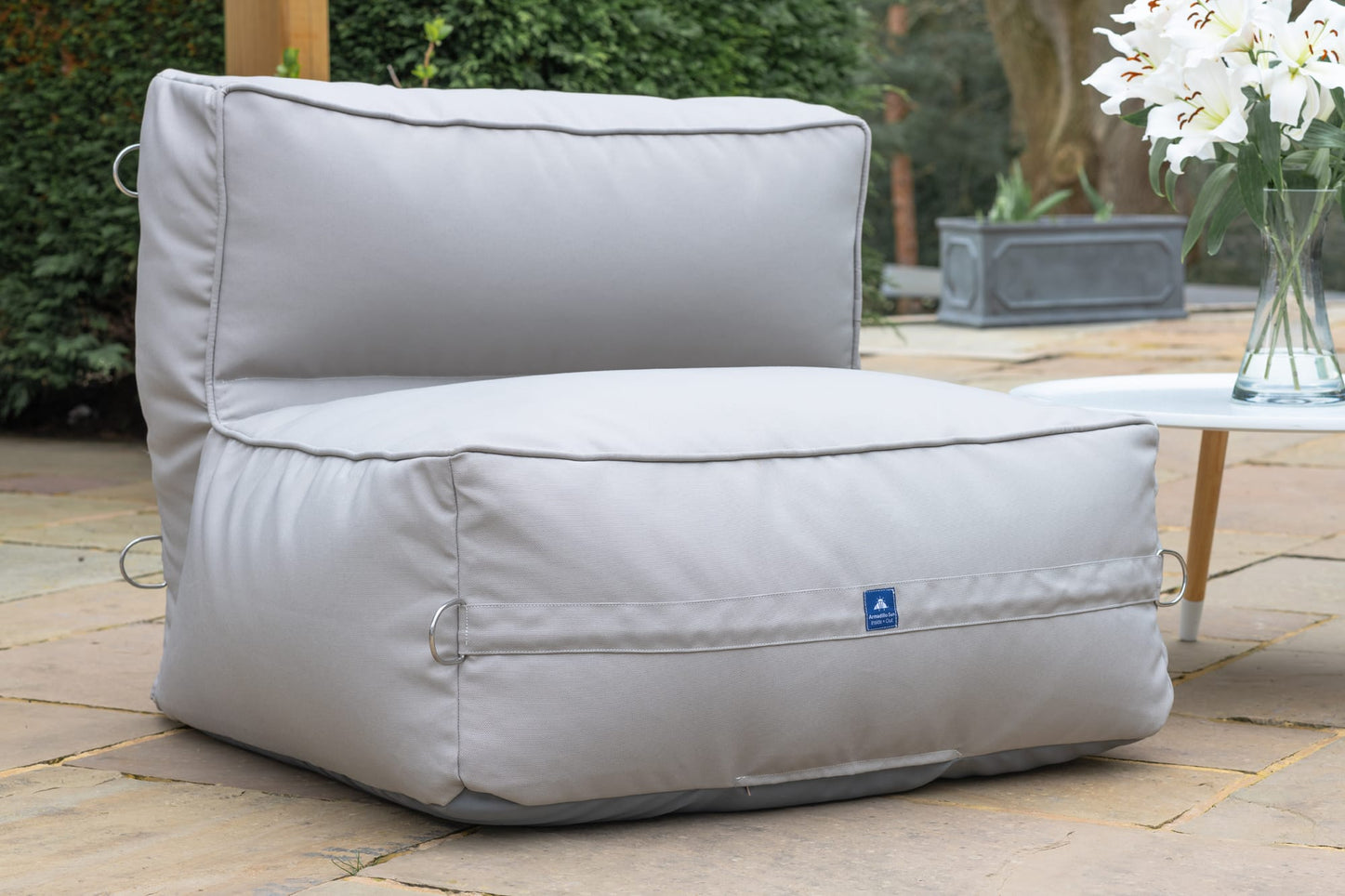 Monaco Modular Bean Bag Chair in Pumice Grey Monaco armadillosun