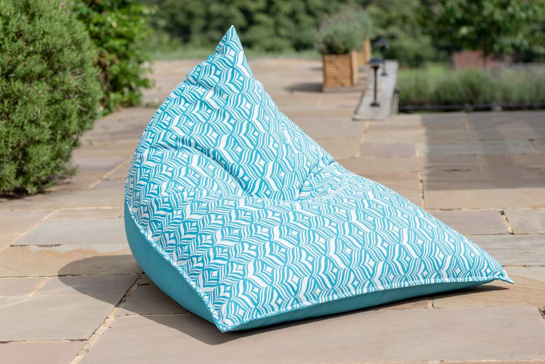 Indoor / Outdoor Bean Bag Long Chair - Patterned