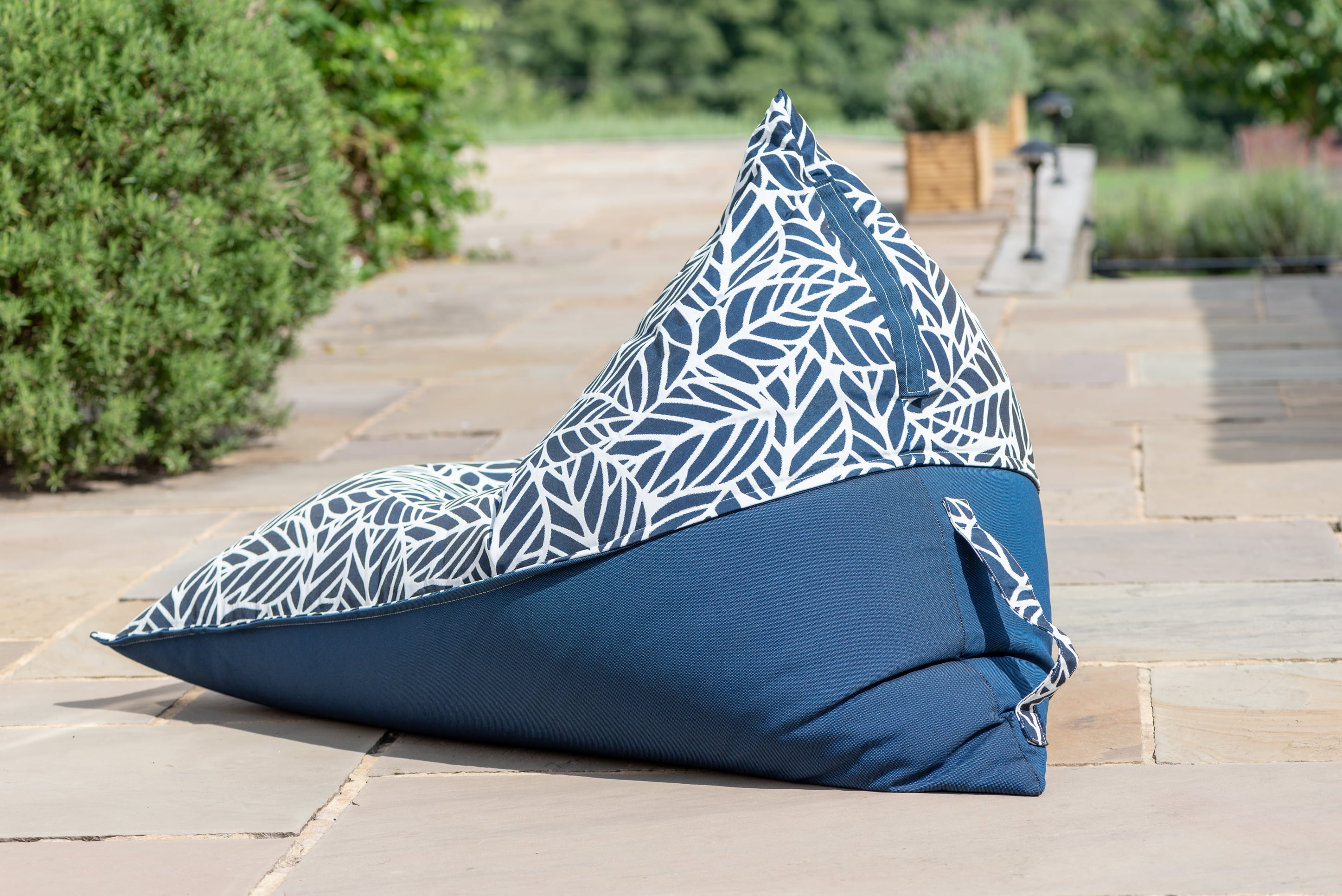 Bean Bag Chair in Palm Navy Bean Bag Chair armadillosun