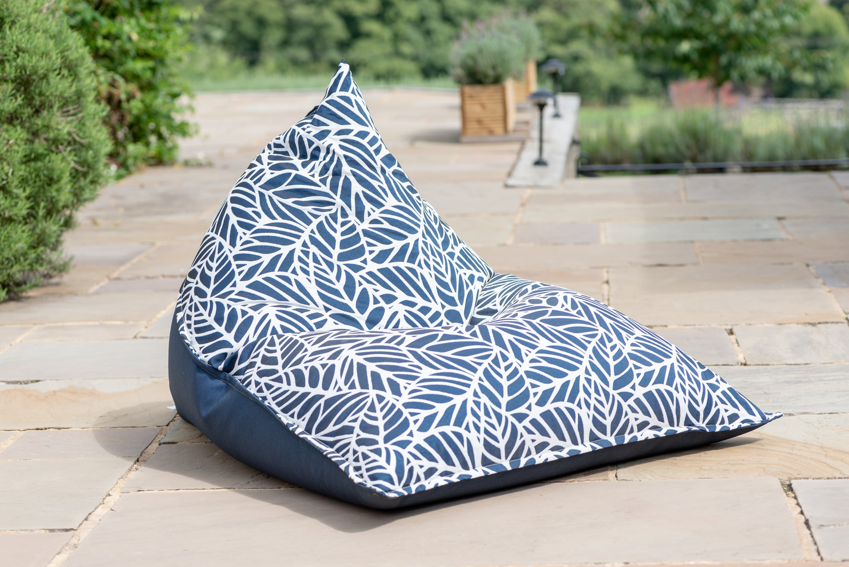Fabulous Bean Bag Seat In Palm Navy Caraccident5 Cool Chair Designs And Ideas Caraccident5Info