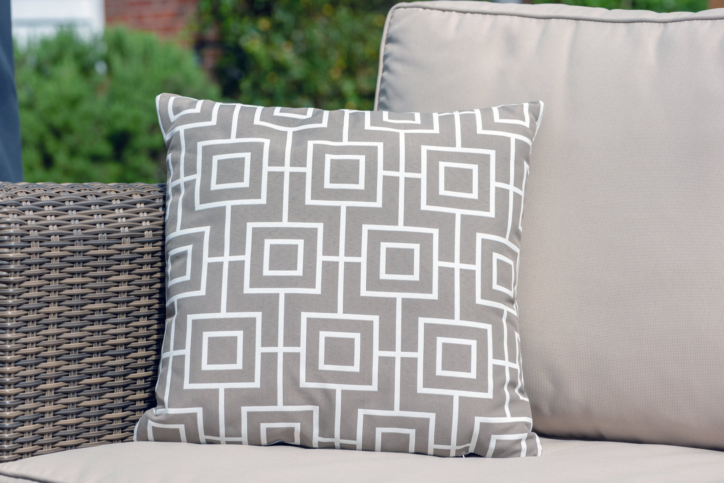 Luxury Cushion in Aztec Pumice
