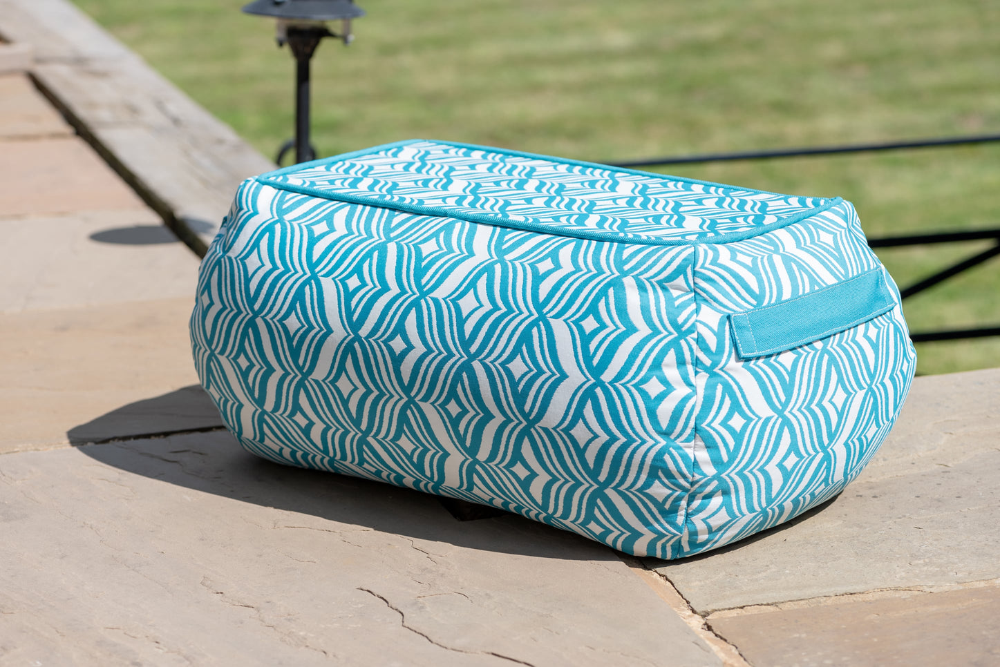 Bean Bag Table in Tulip Turquoise