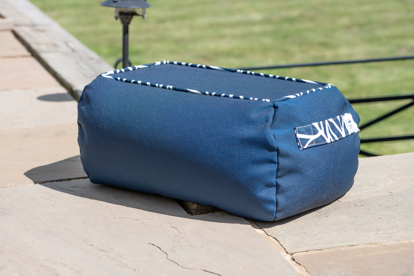 Armadillo Sun bean bag table in Navy Blue