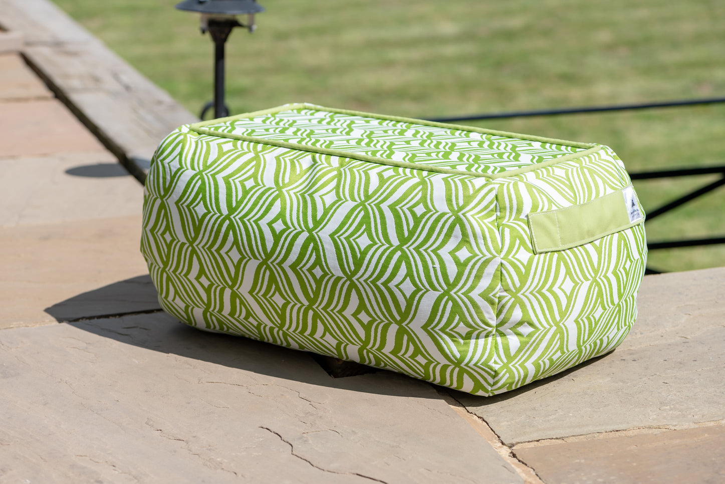 Bean Bag Table in Tulip Green - Armadillo Sun
