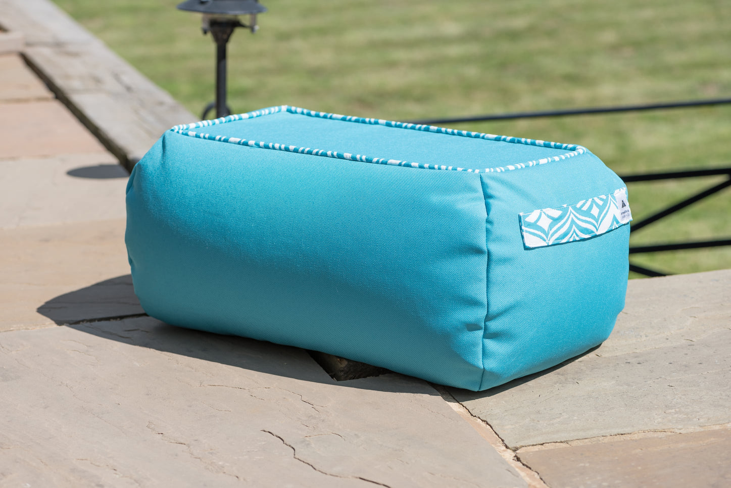 Bean Bag Table in Turquoise Blue