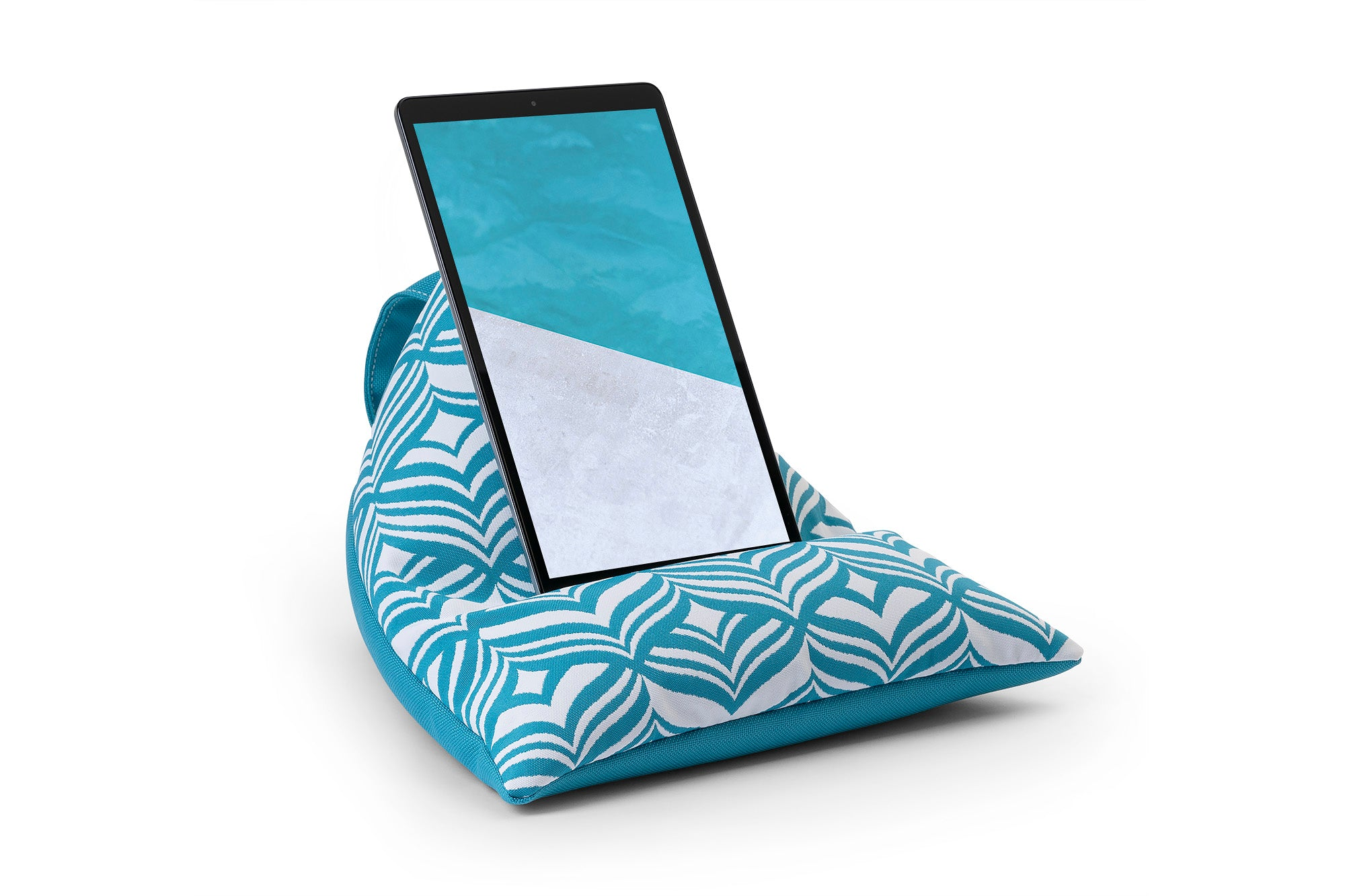 iPad, Tablet & eReader Bean Bag Stand in Tulip Turquoise/Turquoise Base