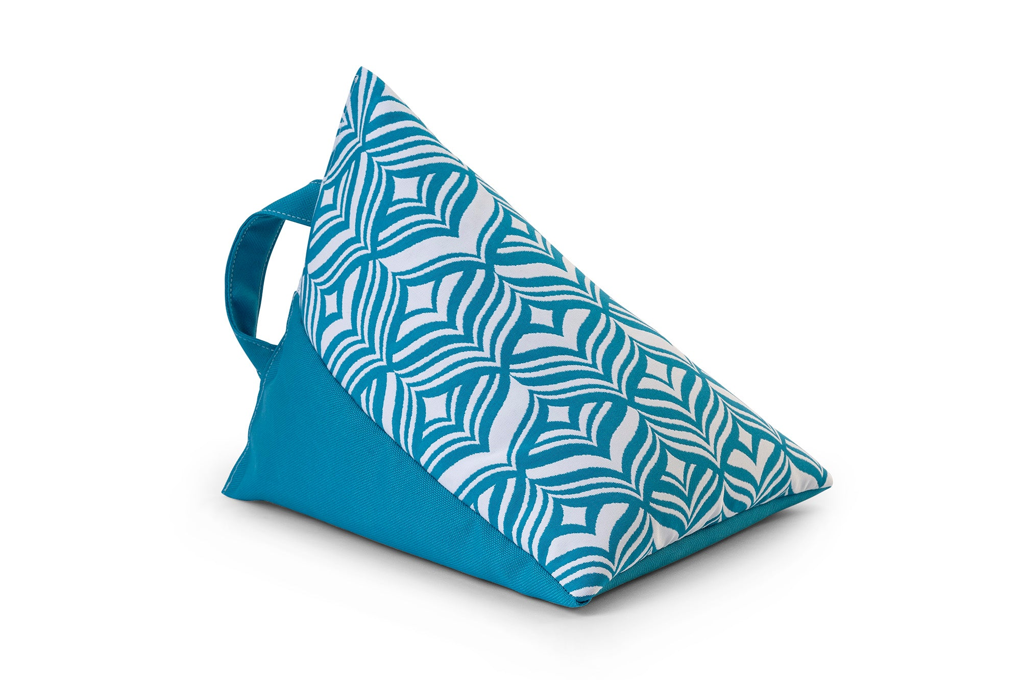iPad, Tablet & eReader Bean Bag Stand in Tulip Turquoise/Turquoise Base armadillosun