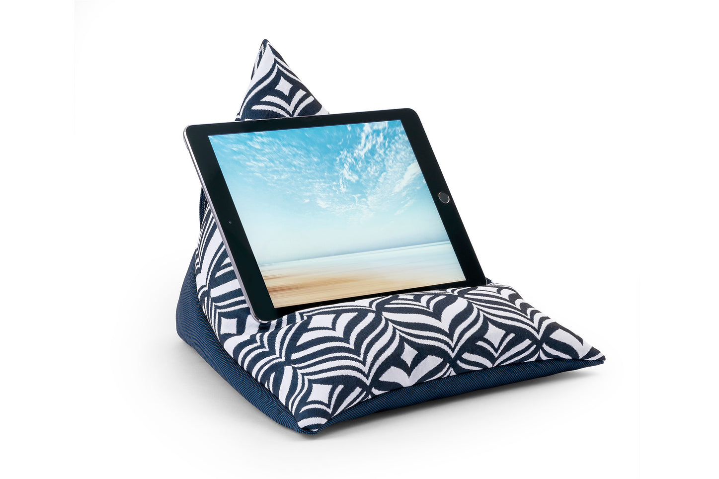 iPad, Tablet & eReader Bean Bag Stand in Tulip Navy/Navy Base