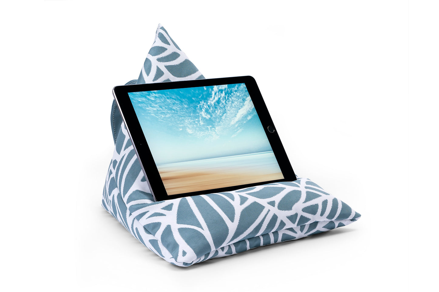 iPad, Tablet & eReader Bean Bag Stand in Palm Ocean armadillosun