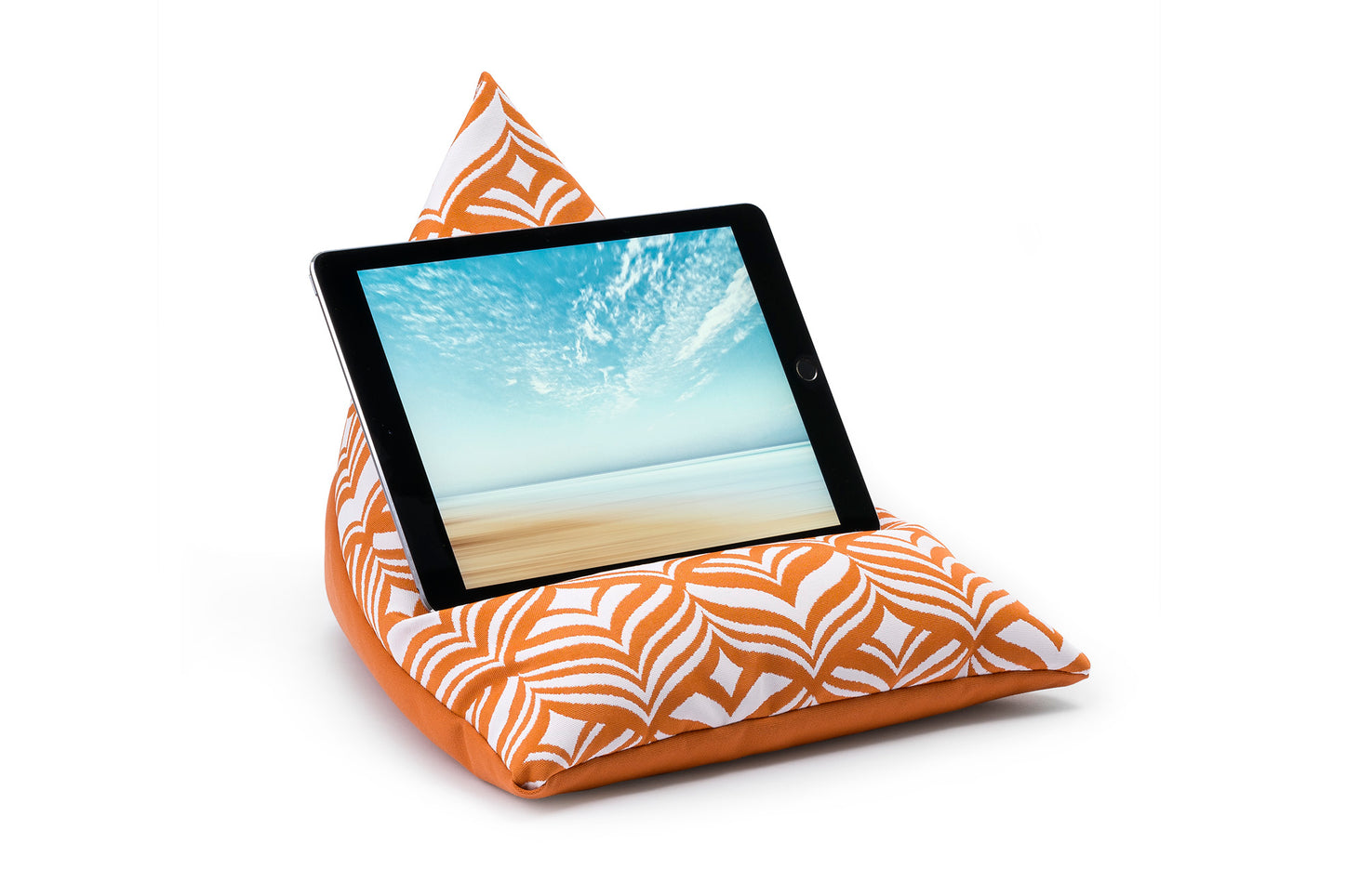 iPad, Tablet & eReader Bean Bag Stand in Tulip Orange/Orange Base armadillosun