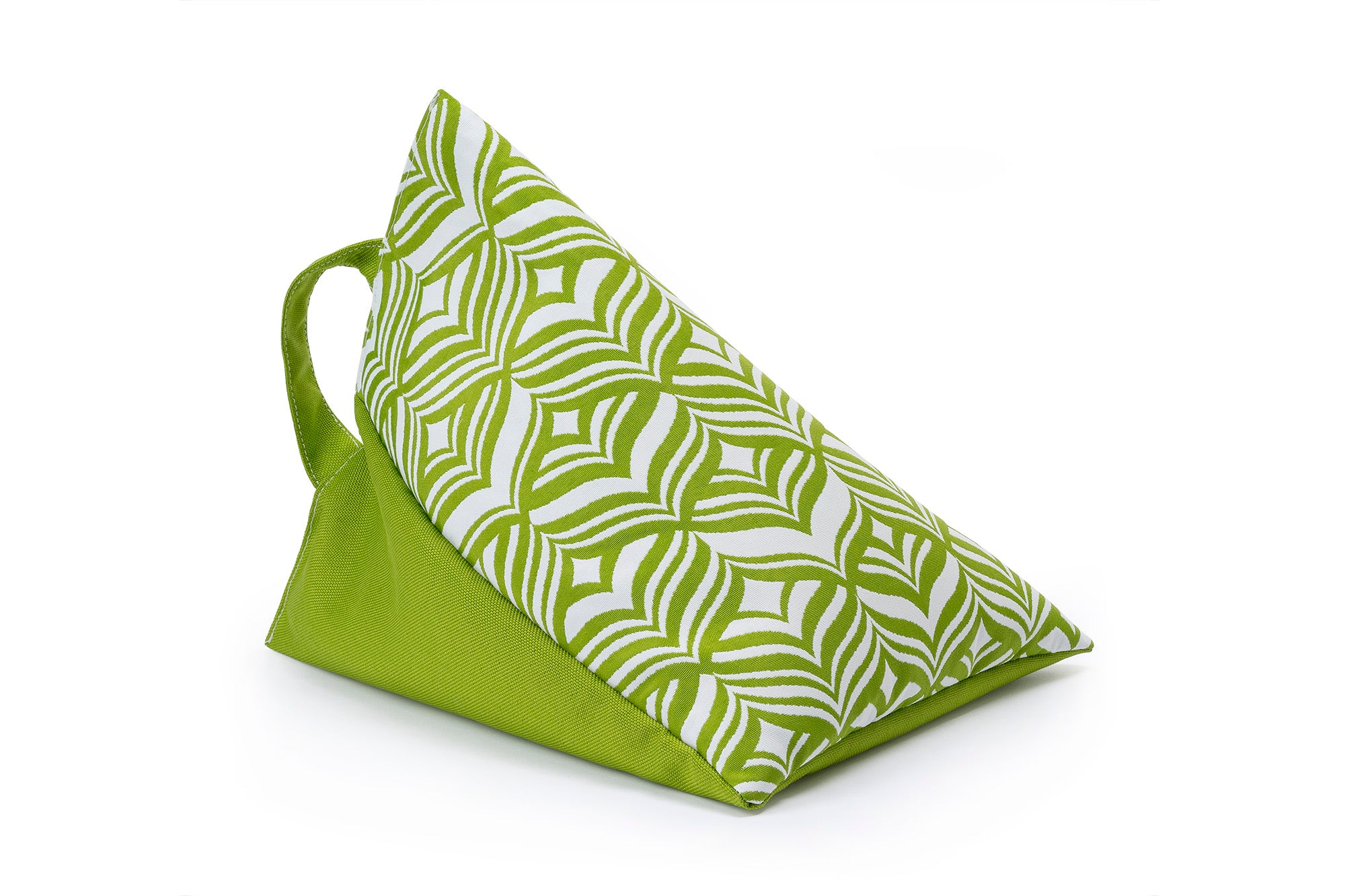 iPad, Tablet & eReader Bean Bag Stand in Tulip Green/Green Base