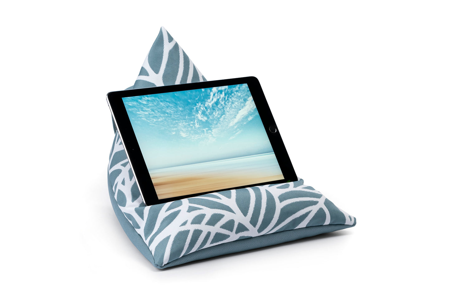 iPad, Tablet & eReader Bean Bag Stand in Palm Ocean/ Ocean Base