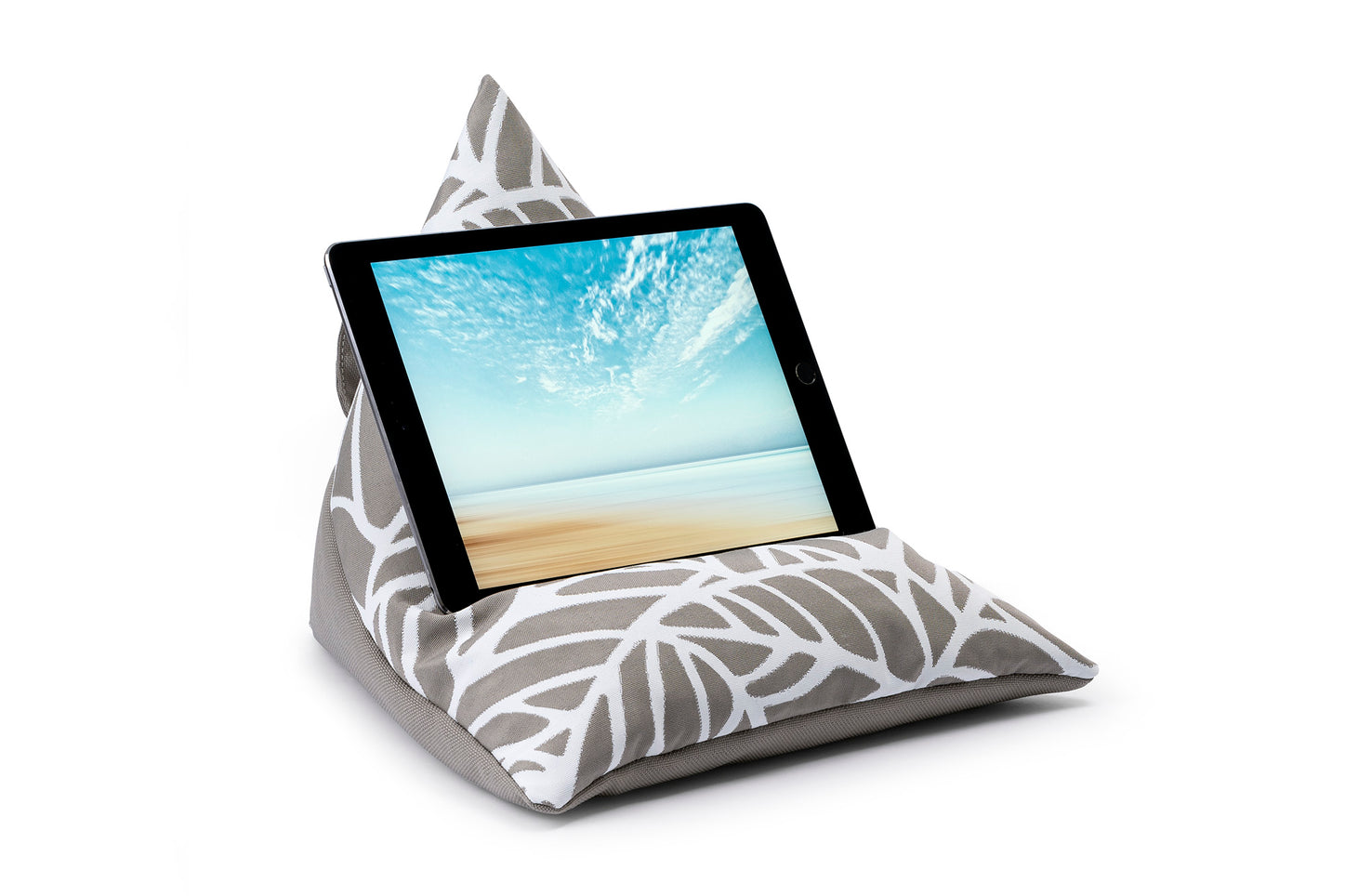 iPad, Tablet & eReader Bean Bag Stand in Palm Pumice/ Pumice Base