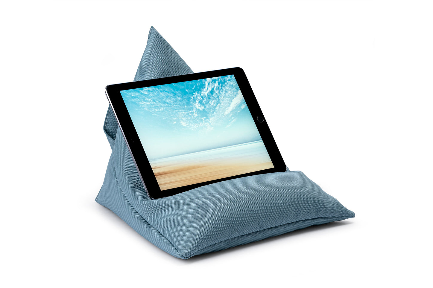 iPad, Tablet & eReader Bean Bag Stand in Plain Ocean armadillosun