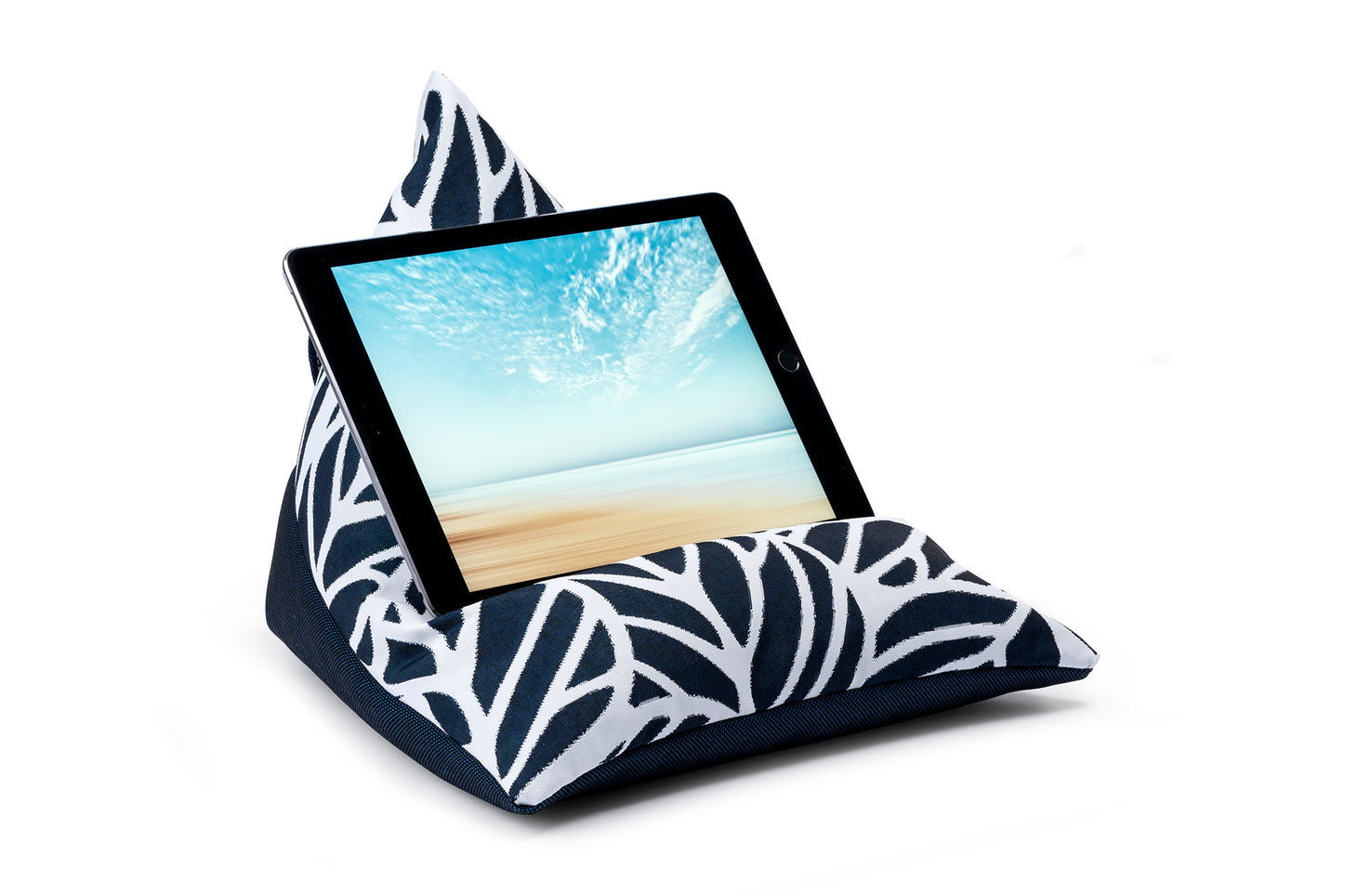 iPad, Tablet & eReader Bean Bag Stand in Palm Navy/Navy Base armadillosun