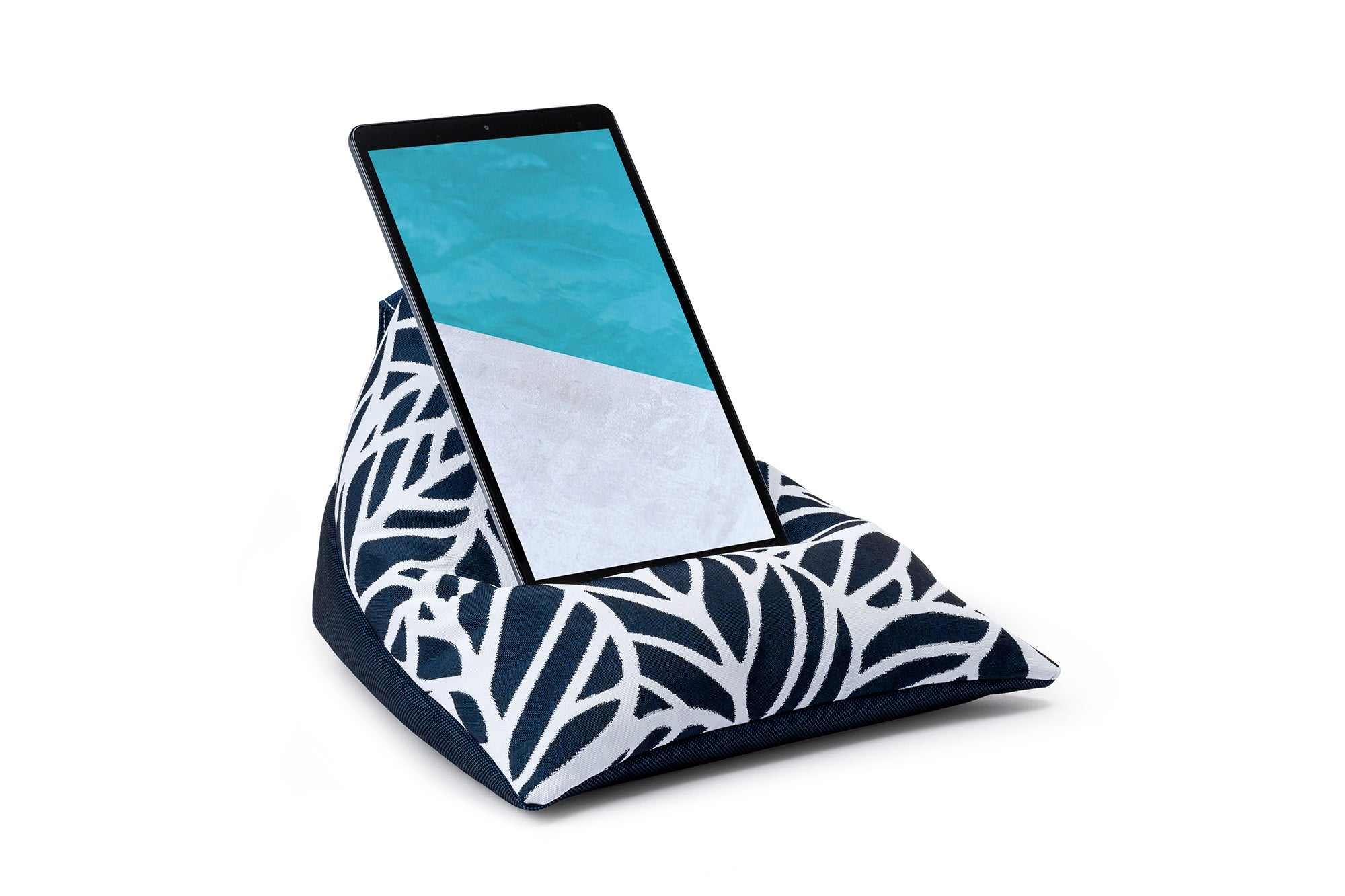 iPad, Tablet & eReader Bean Bag Stand in Palm Navy/Navy Base