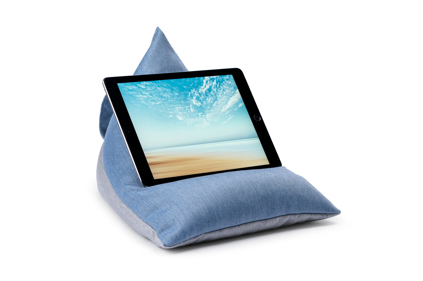 iPad, Tablet & eReader Bean Bag Stand in Cuba Ice/Grey Base