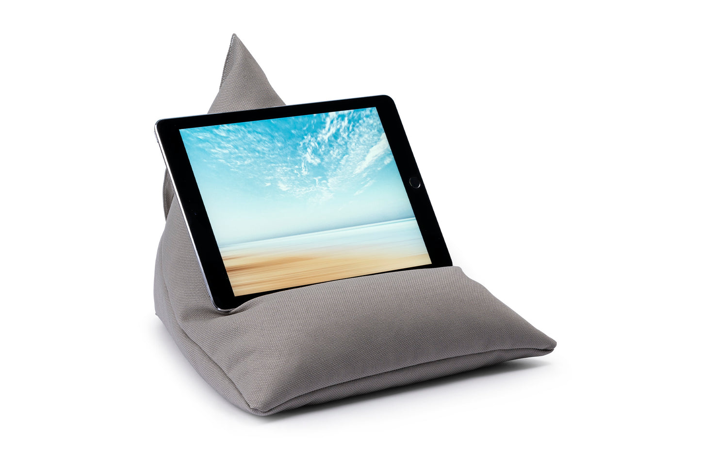 iPad, Tablet & eReader Bean Bag Stand in Plain Pumice armadillosun