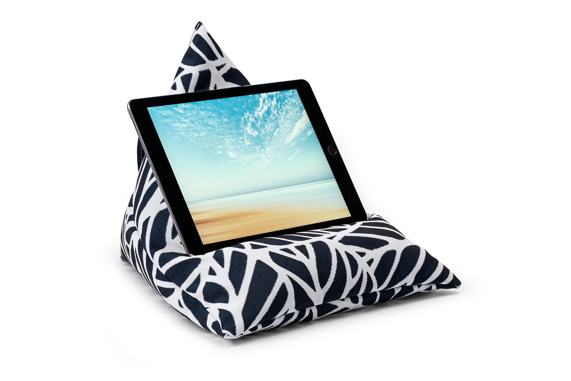 iPad, Tablet & eReader Bean Bag Stand in Palm Navy armadillosun