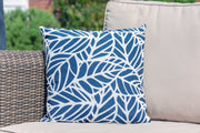 Luxury Cushion in Palm Navy