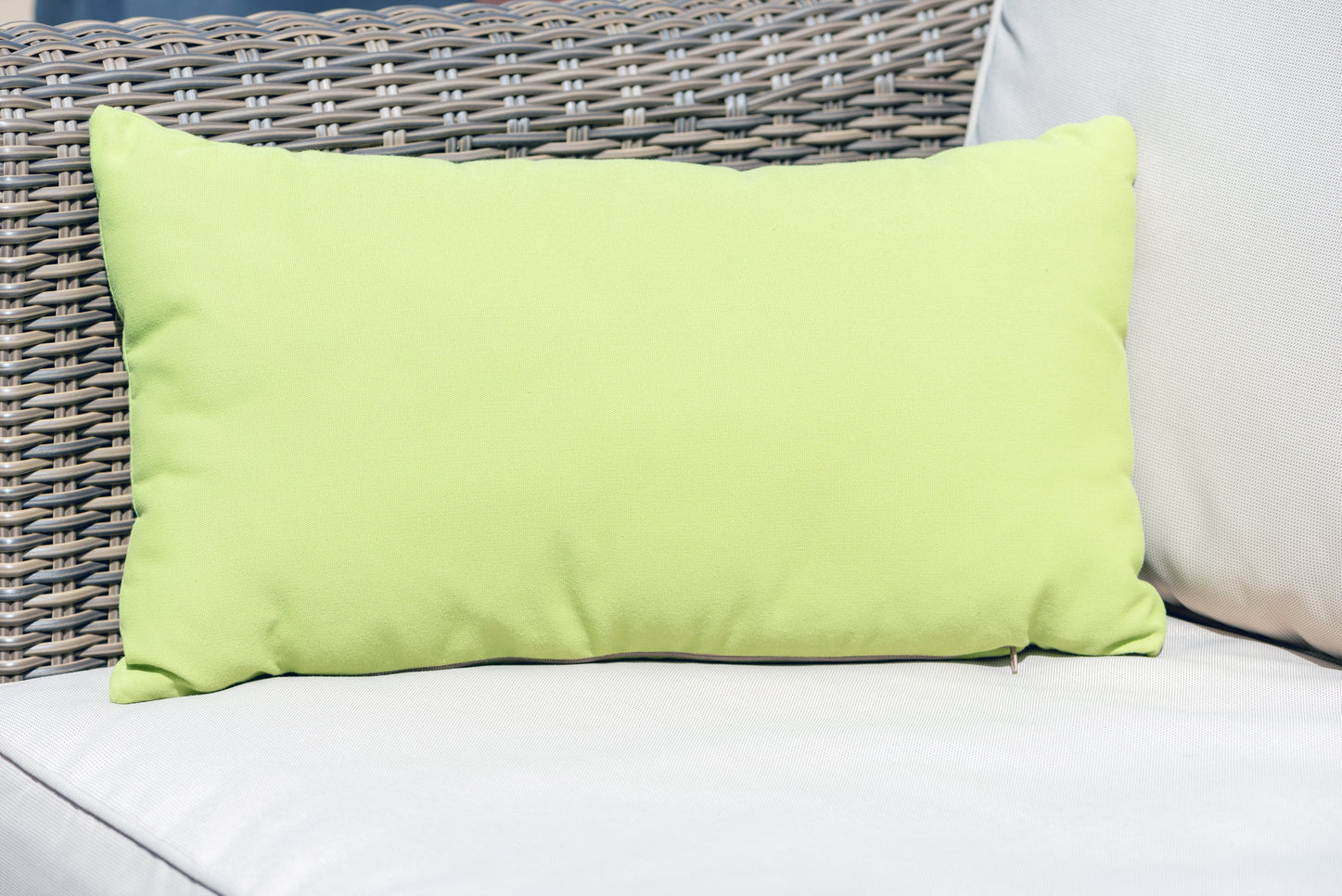 Armadillo Sun waterproof luxury cushion in green