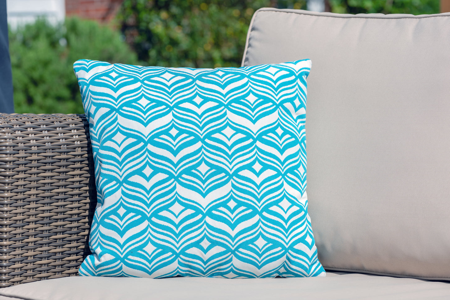 Luxury Cushion in Tulip Turquoise