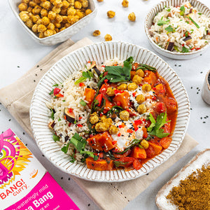 Sweet Potato and Spinach Curry with Crunchy Chickpeas