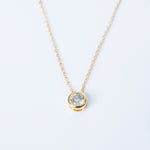Load image into Gallery viewer, Solitaire Gold Pendant
