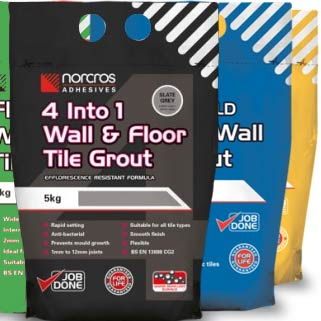 our range of grouts for wall and floor tiles