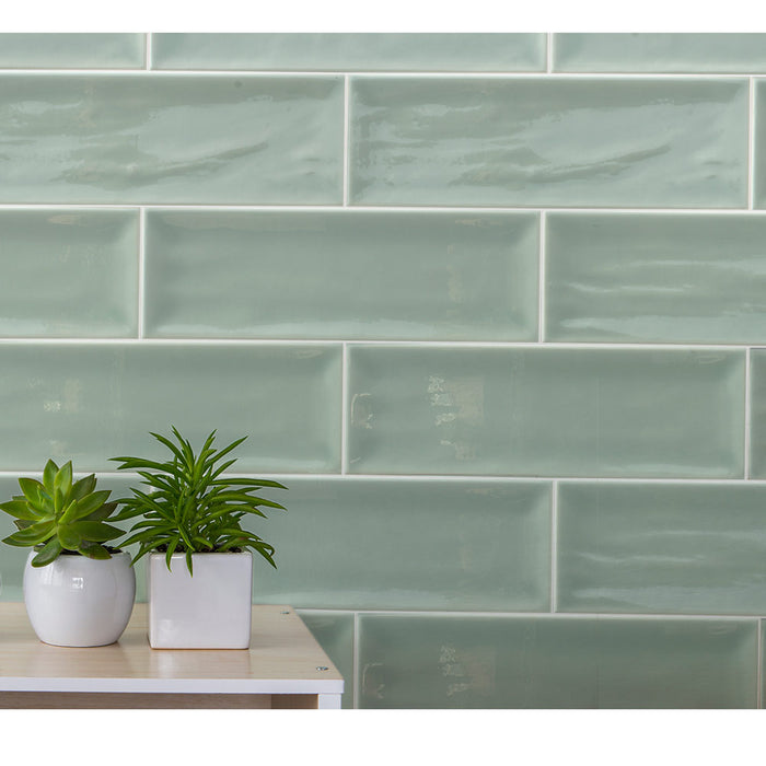 10x30cm Aria Green Brick tile-Fabresa-ceramicplanet.co.uk